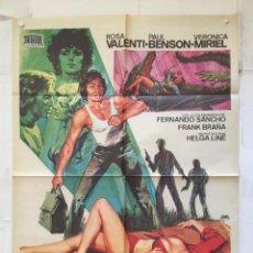 Cine: LAS ALIMAÑAS - POSTER CARTEL ORIGINAL ROSA VALENTI VERONICA MIRIEL AMANDO DE OSSORIO HELGA LINE JANO. Lote 147498918