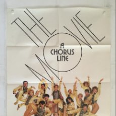 Cine: A CHORUS LINE - POSTER CARTEL ORIGINAL USA - RICHARD ATTENBOROUGH MICHAEL DOUGLAS. Lote 147501018