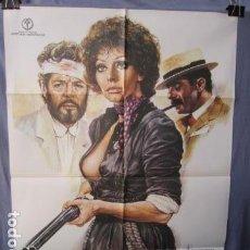 Cine: LA VIUDA INDOMABLE - POSTER ORIGINAL CINE 1981 - 100 CM X 70 CM. Lote 147582022