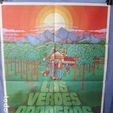 Cinema: LAS VERDES PRADERAS - POSTER ORIGINAL CINE 1979 - 100 CM X 70 CM. Lote 147584198