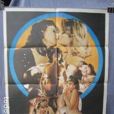 Cine: LAS ORGIAS INCONFESABLES DE EMMANUELLE - POSTER ORIGINAL CINE 1982 - 100 CM X 70 CM. Lote 147587774