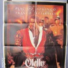 Cine: OTELLO - POSTER ORIGINAL CINE 1986 - 100 CM X 70 CM. Lote 147587946