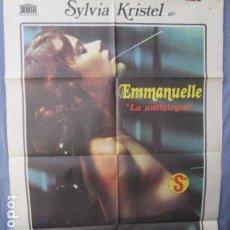 Cine: EMMANUELLE LA ANTI-VIRGEN - POSTER ORIGINAL CINE - 100 CM X 70 CM. Lote 147588486