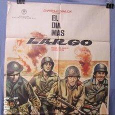 Cine: EL DIA MAS LARGO - POSTER ORIGINAL CINE 1973 - 100 CM X 70 CM. Lote 147590418