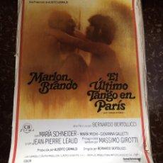 Cine: EL ÚLTIMO TANGO EN PARIS. CARTEL ORIGINAL. MARLON BRANDO. BERTOLUCCI.. Lote 147590502