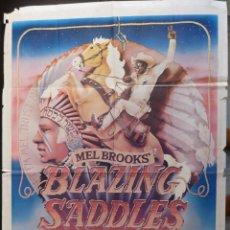 Cine: BLAZING SADDLES MOVIE POSTER,ORIGINAL 1SH,AÑO 1974. Lote 147590718