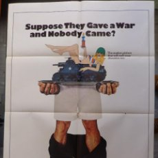 Cine: SUPPOSE THEY GAVE A WAR AND NOBODY CAME? ORIGINAL MOVIE POSTER,AÑO 1970 (27X41). Lote 147591178