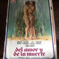 Cine: DEL AMOR Y LA MUERTE. CARTEL DE CINE. AMPARO MUÑOZ. ANTONIO FERRANDIS. 1977. Lote 147591745