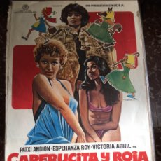 Cine: CAPERUCITA Y ROJA. CARTEL DE CINE. VICTORIA ABRIL. ESPERANZA ROYBB. Lote 147592193