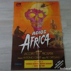 Cine: CARTEL ADIOS ÁFRICA - ORIGINAL - 70 X 100 CM APROX. Lote 147602950