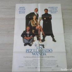 Cine: CARTEL UN PEZ LLAMADO WANDA - ORIGINAL - 70 X 100 APROX. Lote 147604778