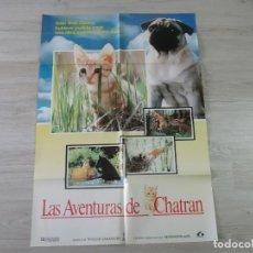 Cine: CARTEL LAS AVENTURAS DE CHATRÁN - ORIGINAL - 70 X 100 APROX. Lote 147605402