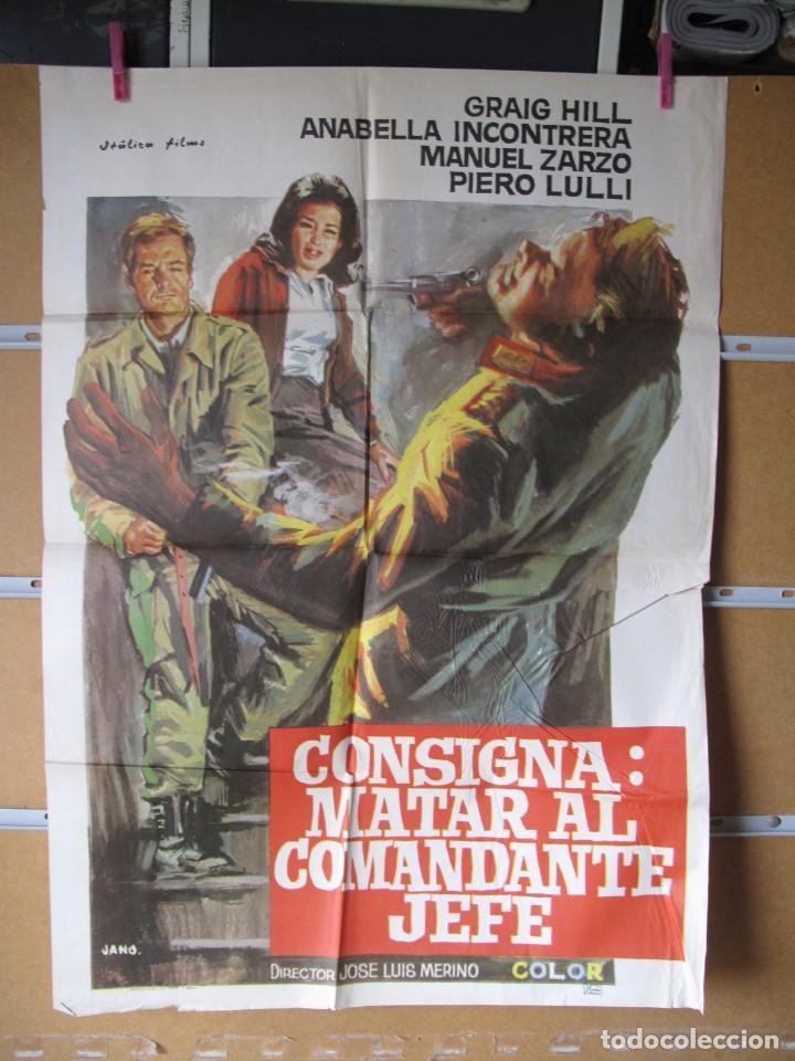 L1697 CONSIGNA MATAR AL COMANDANTE EN JEFE (Cine - Posters y Carteles - Aventura)