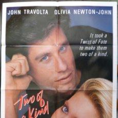 Cine: TWO OF A KIND MOVIE POSTER,AÑO 1983,27X41,ORIGINAL USA,JOHN TRAVOLTA. Lote 147728406