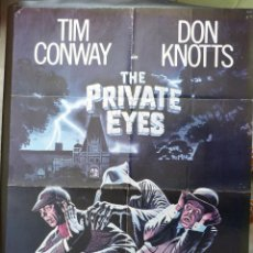 Cine: THE PRIVATE EYES MOVIE POSTER,AÑO 1980,ONE SHEET, TIM CONWAY. Lote 147729086