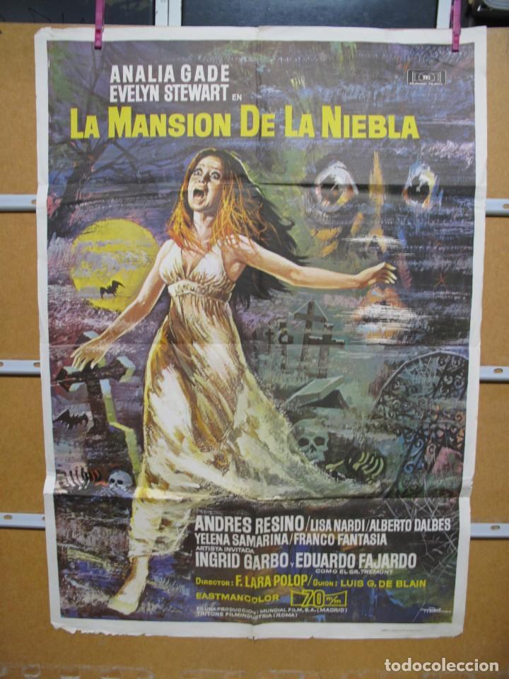 L1713 LA MANSION DE LA NIEBLA (Cine - Posters y Carteles - Aventura)