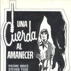 Cine: F28770 UNA CUERDA AL AMANECER PIERRE BRICE SPAGHETTI MAQUETA DIBUJO ORIGINAL MARTI RIPOLL. Lote 147894154