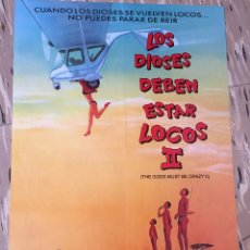 Cine: POSTER DOBLE VIDEO CLUB CBS FOX 3 CAMAS PARA UN SOLTERO LOS DISOSES DEBEN ESTAR LOCOS II 40 X 57 CM. Lote 147961346