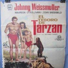 Cine: EL TESORO DE TARZAN - PÓSTER ORIGINAL CINE - 100 CM X 70 CM. Lote 147982790