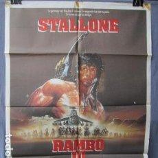 Cine: RAMBO III - PÓSTER ORIGINAL CINE - 100 CM X 70 CM. Lote 147983270