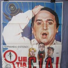 Cine: QUE TÍA LA CIA! - PÓSTER ORIGINAL CINE - 100 CM X 70 CM. Lote 147985854