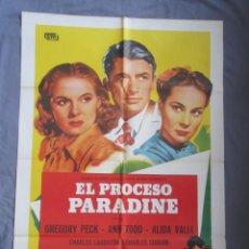 Cine: EL PROCESO PARADINE - PÓSTER ORIGINAL CINE - 100 CM X 70 CM. Lote 147991298
