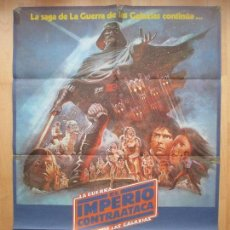Cine: CARTEL CINE, LA GUERRA DE LAS GALAXIAS, EL IMPERIO CONTRAATACA, HARRISON FORD, 1980, C1149. Lote 147992766