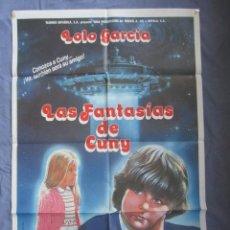 Cine: LAS FANTASIAS DE CUNY - PÓSTER ORIGINAL CINE - 100 CM X 70 CM. Lote 147993902