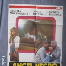 Cine: ANGEL NEGRO - PÓSTER ORIGINAL CINE - 100 CM X 70 CM. Lote 147994810