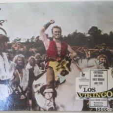 Cine: KIRK DOUGLAS, TONY CURTIS, ERNEST BORGNINE, JANET LEIGH, CARTELERA, LOS VIKINGOS. Lote 148018582