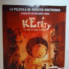 Cine: POSTERS. KERITY, LA CASA DE LOS CUENTOS. ORIGINAL. MEDIDA. 42 X 30 CTS. . Lote 148019886