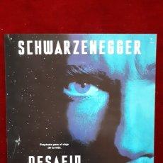 Cine: POSTER PUBLICITARIO ARNOLD SCHWARZENEGGER DESAFIO TOTAL. Lote 148199788