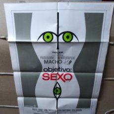 Cine: OBJETIVO SEXO RAQUEL EVANS POSTER ORIGINAL 70X100 YY (1981). Lote 148316222