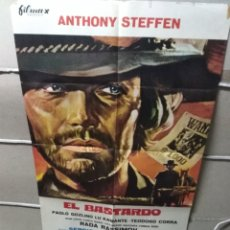 Cine: EL BASTARDO ANTHONY STEFFEN SPAGHETTI POSTER ORIGINAL 70X100 YY (1989). Lote 148325369