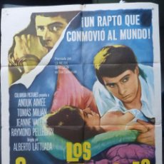 Cine: LOS SECUESTRADORES POSTER ORIGINAL INTERNACIONAL EN ESPAÑOL,AÑO 1962, JACQUES MOREL. Lote 148377326