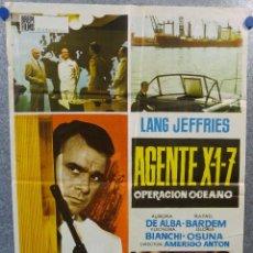 Cine: AGENTE X-1-7. OPERACION OCEANO. AURORA DE ALBA, RAFAEL BARDEM, LANG JEFFRIES. AÑO 1966. Lote 148784498
