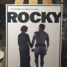 Cine: ROCKY - CUADRO CARTEL CINE VINTAGE EN MADERA 40X26,5 CM. SILVESTER STALLONE. Lote 148989496