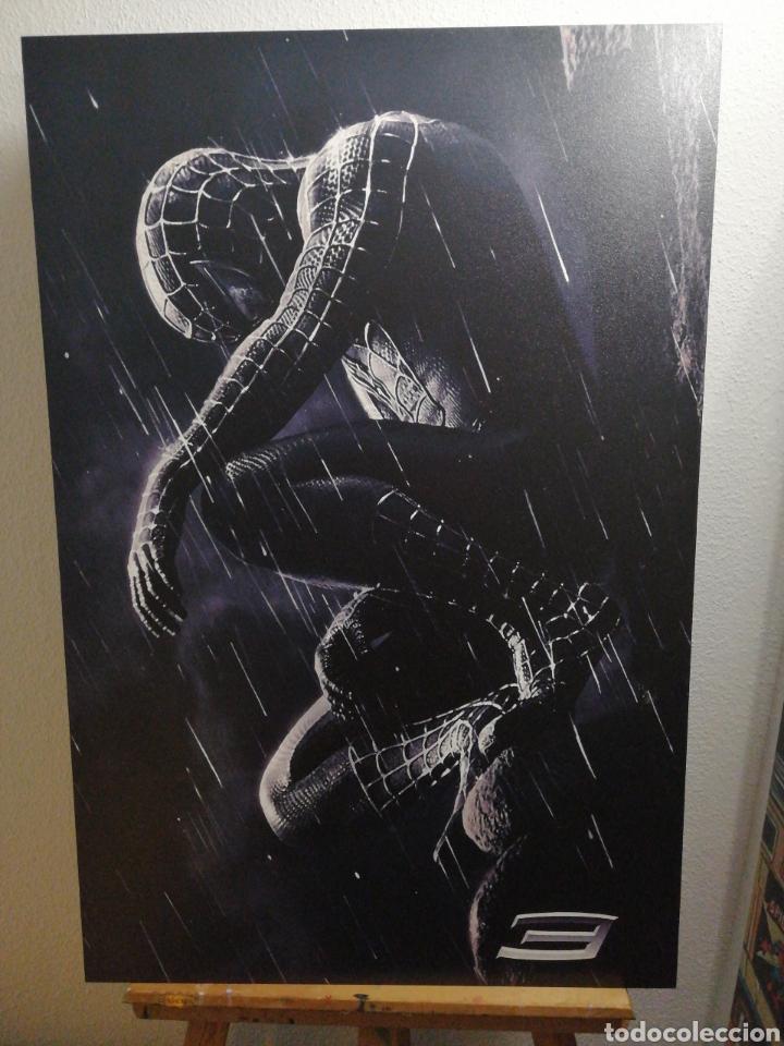 Cine: SPIDERMAN BLACK NEGRO. Cuadro Cartel Cine. Hecho en madera 100x70 cm. Muy Raro - Foto 3 - 149138466
