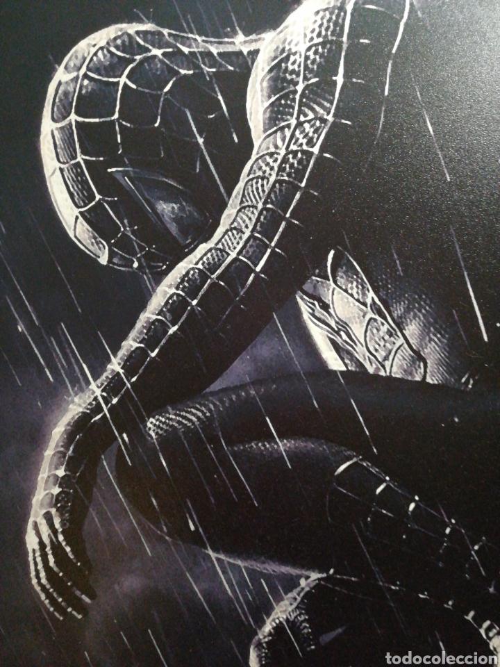 SPIDERMAN BLACK NEGRO. CUADRO CARTEL CINE. HECHO EN MADERA 100X70 CM. MUY RARO (Cine - Posters y Carteles - Ciencia Ficción)