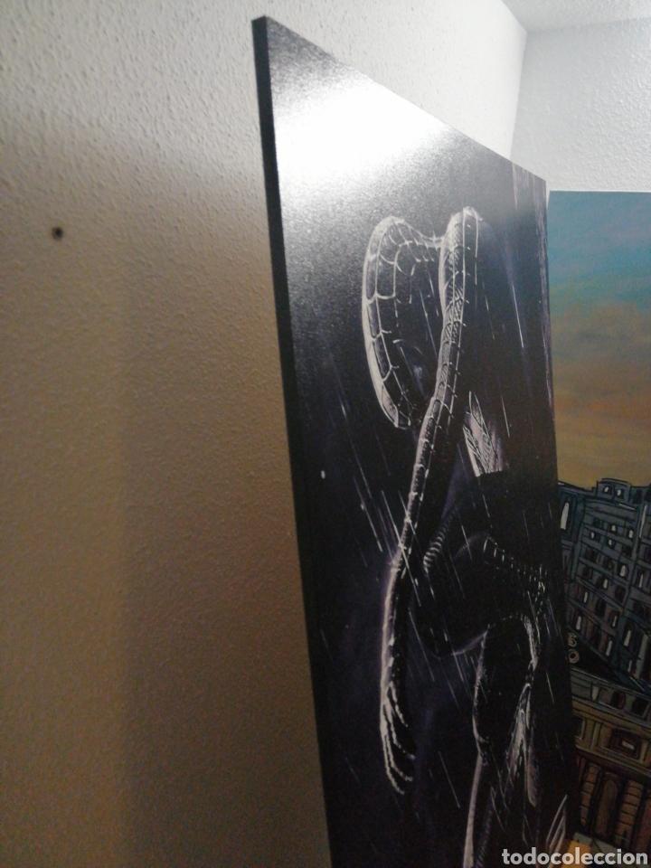 Cine: SPIDERMAN BLACK NEGRO. Cuadro Cartel Cine. Hecho en madera 100x70 cm. Muy Raro - Foto 5 - 149138466