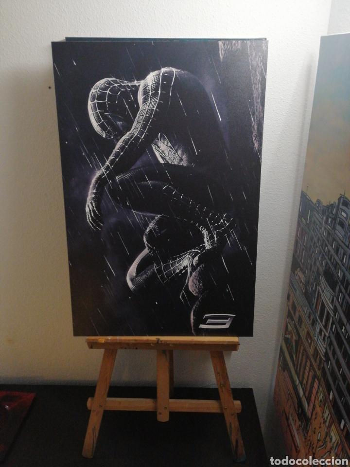 Cine: SPIDERMAN BLACK NEGRO. Cuadro Cartel Cine. Hecho en madera 100x70 cm. Muy Raro - Foto 2 - 149138466
