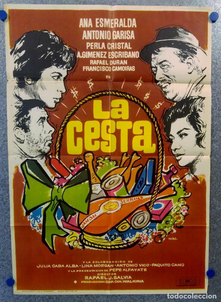 LA CESTA. ANA ESMERALDA, ANOTNIO GARISA, LINA MORGAN. AÑO 1964 (Cine - Posters y Carteles - Clasico Español)