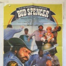 Cine: EL SUPERSHERIFF - POSTER CARTEL ORIGINAL - BUD SPENCER MUCHELE LUPO. Lote 149311534