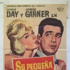 Cine: SU PEQUEÑA AVENTURA - POSTER CARTEL ORIGINAL - DORIS DAY JAMES GARDNER NORMAN JEWISON MCP. Lote 149311918