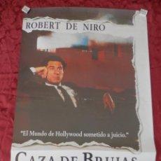 Cine: POSTER CARTEL ORIGINAL PELICULA: CAZA DE BRUJAS ROBERT DE NIRO. Lote 149337872
