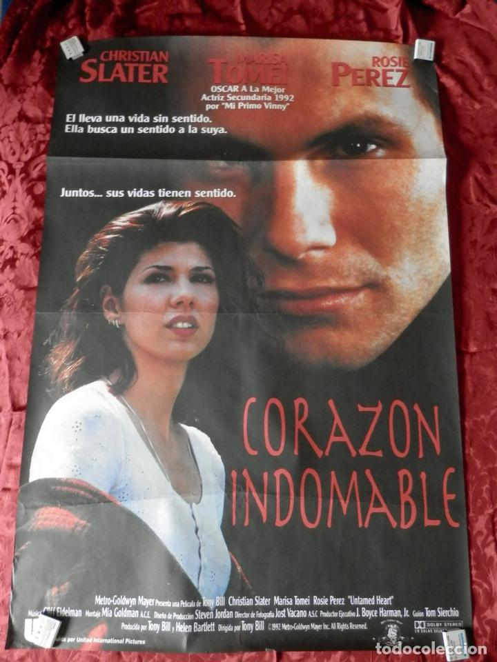 POSTER CARTEL ORIGINAL PELICULA: CORAZON INDOMABLE CHRISTIAN SLATER (Cine - Posters y Carteles - Clasico Español)