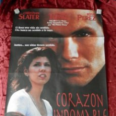 Cine: POSTER CARTEL ORIGINAL PELICULA: CORAZON INDOMABLE CHRISTIAN SLATER. Lote 149337896