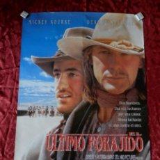 Cine: POSTER CARTEL ORIGINAL PELICULA: EL ULTIMO FORAJIDO MICKEY ROURKE. Lote 149338097