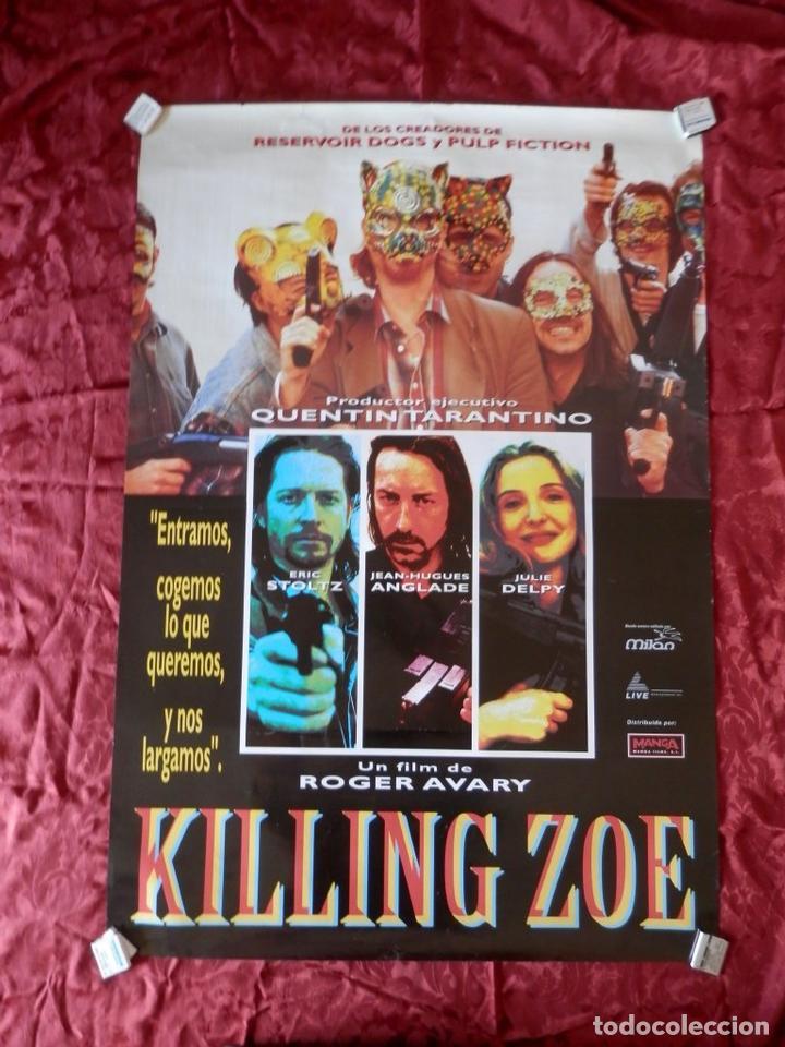 POSTER CARTEL ORIGINAL PELICULA: KILLING ZOE ERIC STOLTZ JULIE DELPY (Cine - Posters y Carteles - Clasico Español)