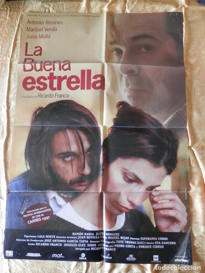 POSTER CARTEL ORIGINAL PELÍCULA: LA BUENA ESTRELLA,ANTONIO RESINES (Cine - Posters y Carteles - Clasico Español)